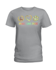 PEACE LOVE DOGS Ladies T-Shirt thumbnail