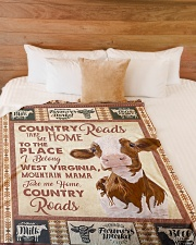 "TAKE ME HOME COUNTRY ROADS Large Fleece Blanket - 60"" x 80"" aos-coral-fleece-blanket-60x80-lifestyle-front-02"