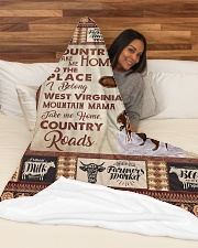 "TAKE ME HOME COUNTRY ROADS Large Fleece Blanket - 60"" x 80"" aos-coral-fleece-blanket-60x80-lifestyle-front-03"