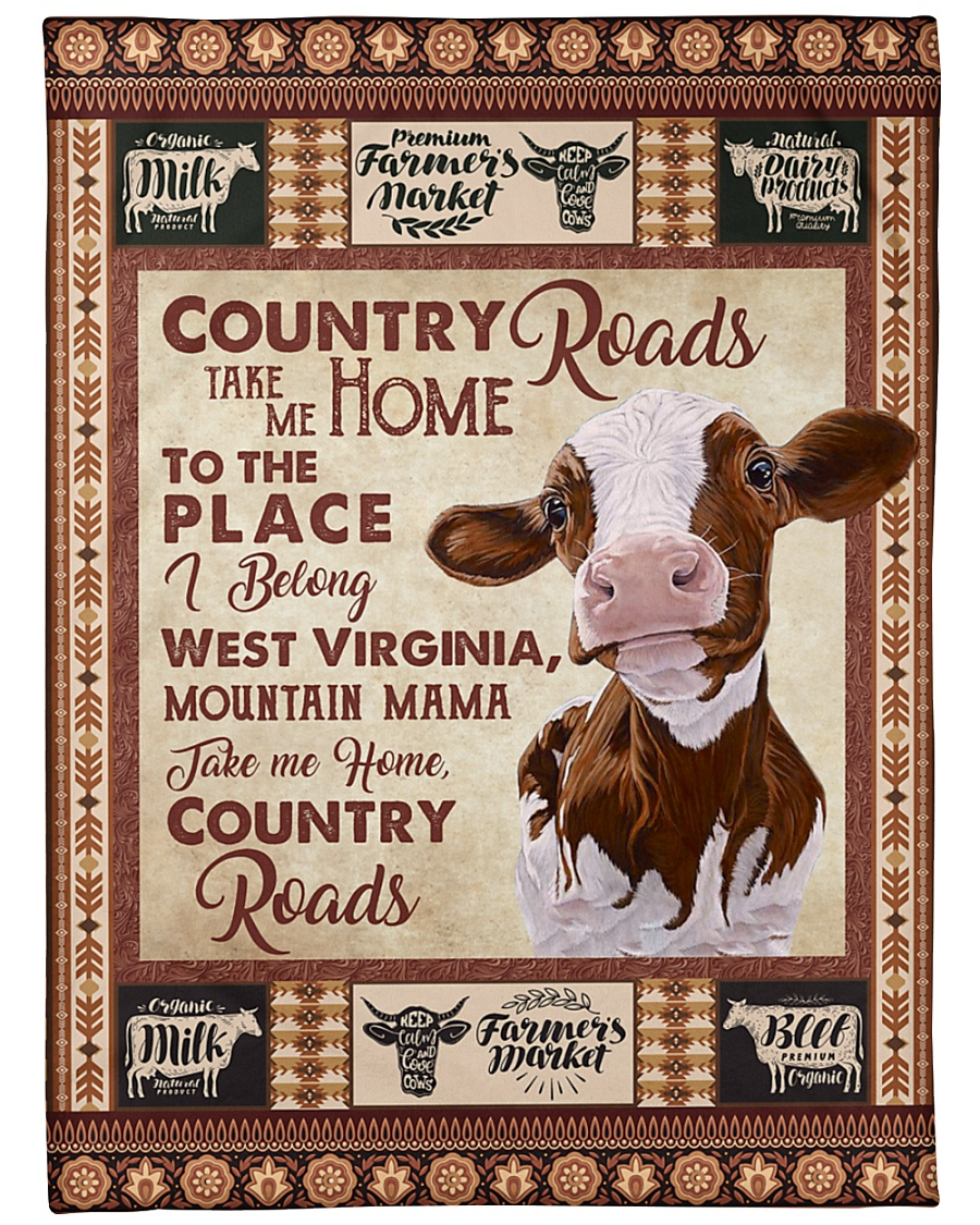 "TAKE ME HOME COUNTRY ROADS Large Fleece Blanket - 60"" x 80"""