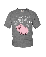 I DID NOT FART MY BUTT BLEW YOU A KISS Youth T-Shirt thumbnail