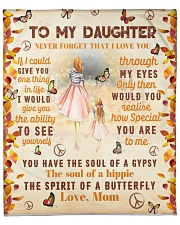 To my Daughter Quilt Fleece Blanket tile
