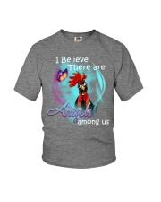 I BELIEVE THERE ARE ANGLES AMONG US Youth T-Shirt thumbnail