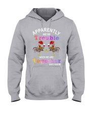 APPARENTLY WE ARE TROUBLE Hooded Sweatshirt thumbnail