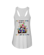 OLD WOMEN HIPPIES NEVER DIE Ladies Flowy Tank thumbnail