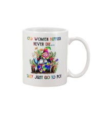 OLD WOMEN HIPPIES NEVER DIE Mug thumbnail