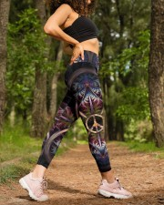 Peace tie dye Legging High Waist Leggings aos-high-waist-leggings-lifestyle-20