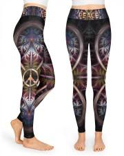 Peace tie dye Legging High Waist Leggings front