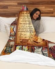 "FAMILY Large Fleece Blanket - 60"" x 80"" aos-coral-fleece-blanket-60x80-lifestyle-front-03"