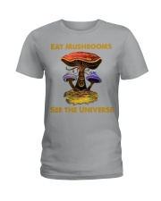EAT MUSHROOMS Ladies T-Shirt thumbnail