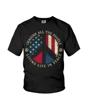 Imagine all the people Living in peace Youth T-Shirt thumbnail