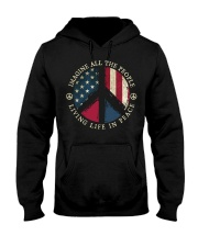 Imagine all the people Living in peace Hooded Sweatshirt thumbnail