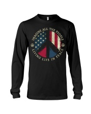 Imagine all the people Living in peace Long Sleeve Tee thumbnail