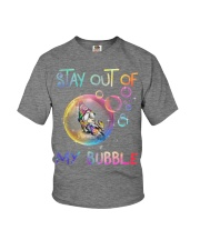 STAY OUT OF MY BUBBLE Youth T-Shirt thumbnail