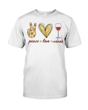 PEACE LOVE WINES Classic T-Shirt front