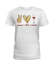 PEACE LOVE WINES Ladies T-Shirt thumbnail