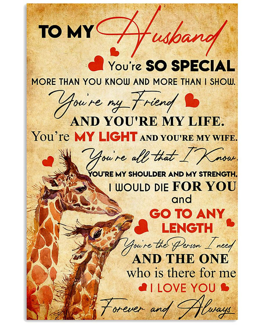 TO MY HUSBAND YOU'RE SO SPECIAL 11x17 Poster