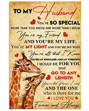 TO MY HUSBAND YOU'RE SO SPECIAL 11x17 Poster front