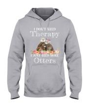I JUST NEED MORE OTTERS Hooded Sweatshirt thumbnail