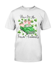 HERE FORR THE FARM ANIMALS Classic T-Shirt front