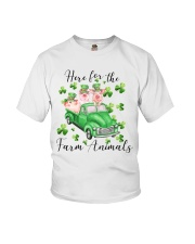 HERE FORR THE FARM ANIMALS Youth T-Shirt thumbnail