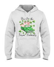 HERE FORR THE FARM ANIMALS Hooded Sweatshirt thumbnail