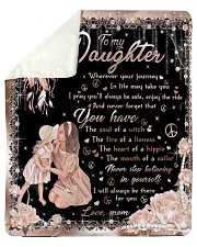 """To my Daughter Quilt Sherpa Fleece Blanket - 50"""" x 60"""" thumbnail"""