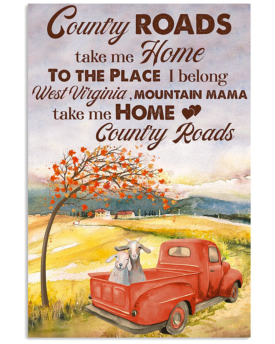 COUNTRY ROADS 11x17 Poster