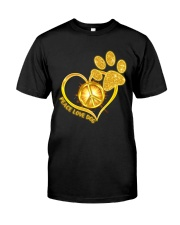 PEACE LOVE DOG Classic T-Shirt front