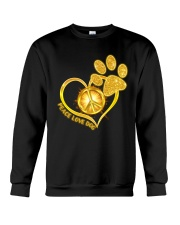 PEACE LOVE DOG Crewneck Sweatshirt thumbnail