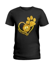 PEACE LOVE DOG Ladies T-Shirt thumbnail