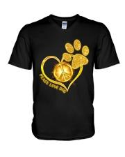 PEACE LOVE DOG V-Neck T-Shirt thumbnail