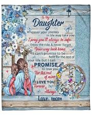 """To My Daughter Quilt Fleece Blanket - 50"""" x 60"""" front"""