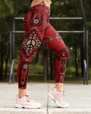 Red Peace Legging High Waist Leggings aos-high-waist-leggings-lifestyle-16