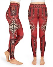 Red Peace Legging High Waist Leggings front