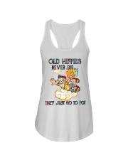 OLD HIPPIES NEVER DIE Ladies Flowy Tank thumbnail