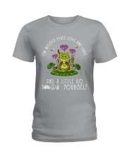 IM MOSTLY PEACE LOVE AND LIGHT Ladies T-Shirt thumbnail