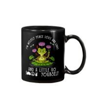 IM MOSTLY PEACE LOVE AND LIGHT Mug thumbnail