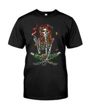 Skull Girl Hippie Tshirt Classic T-Shirt front