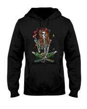 Skull Girl Hippie Tshirt Hooded Sweatshirt thumbnail