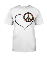 LOVE PEACE Classic T-Shirt front