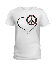 LOVE PEACE Ladies T-Shirt thumbnail