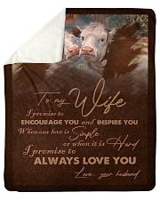 "BLANKET TO MY WIFE Sherpa Fleece Blanket - 50"" x 60"" thumbnail"