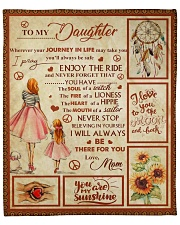 "To my Daughter Fleece Blanket - 50"" x 60"" front"
