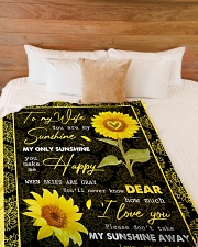 "FAMILY YOU ARE MY SUNSHINE Large Fleece Blanket - 60"" x 80"" aos-coral-fleece-blanket-60x80-lifestyle-front-02"