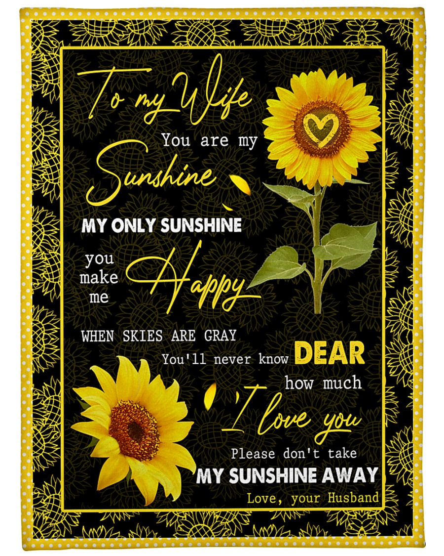 "FAMILY YOU ARE MY SUNSHINE Large Fleece Blanket - 60"" x 80"""