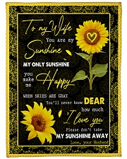 "FAMILY YOU ARE MY SUNSHINE Large Fleece Blanket - 60"" x 80"" front"