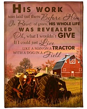 """LIKE A MAN ON A TRACTOR Large Fleece Blanket - 60"""" x 80"""" front"""