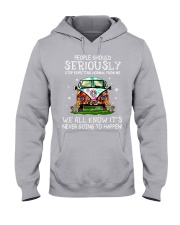 PEOPLE SHOULD SERIOUSLY Hooded Sweatshirt thumbnail