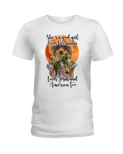 SHE IS A GOOD GIRL LOVES HER MAMA Ladies T-Shirt thumbnail